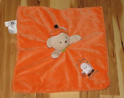Carters Halloween Baby Security Blanket Rattle Bear Orange So Cute Scary