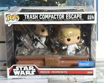 FUNKO POP STAR WARS MOVIE MOMENTS #224 TRASH COMPACTOR ESCAPE