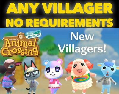 Animal Crossing New Horizons ANY Villager For CHEAP! (FAST DELIVERY)