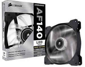 Corsair AF140mm White LED Case Fans x2 Woodville Gardens Port Adelaide Area Preview