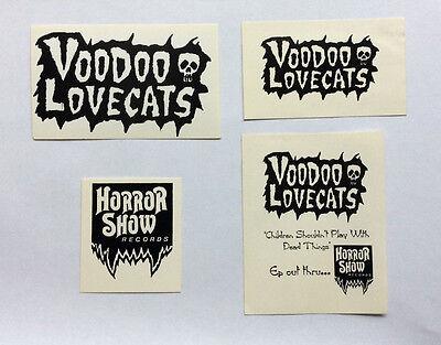 VOODOO LOVECATS - Set of 4 Stickers NEW Merchandise Glam Rock Aussie Punk](Voodoo Merchandise)