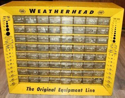 64 Drawer Weatherhead Metal Storage Cabinet Yellow Rare 64 Drawers Unit
