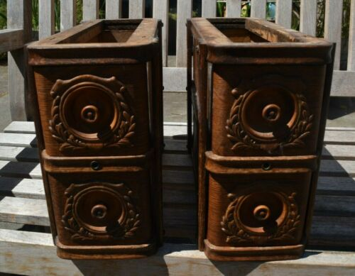 ORNATE 1912 SINGER TREADLE CABINET DRAWERS & FRAMES BEAUTIFUL PATINA GREAT