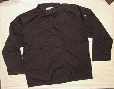 Chef Works Calgary Cool Vent Coat Black 2xl Xxl Ls Double Breast New Nwot