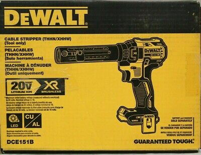 NEW DEWALT DCE151B 20 Volt MAX XR Cordless Brushless Cable Stripper Tool Only