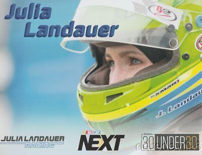 2017 Julia Landauer  Julia Landauer Racing  Nascar K N Postcard