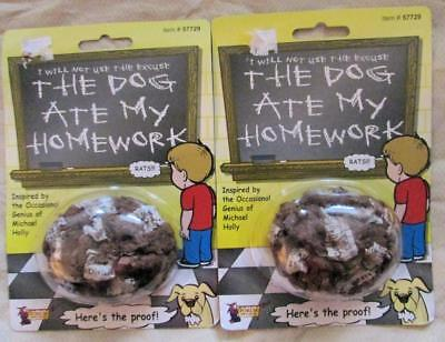 Set of 2 Dog Ate My Homework Fake Poo, Vomit Joke, Gag, Prank