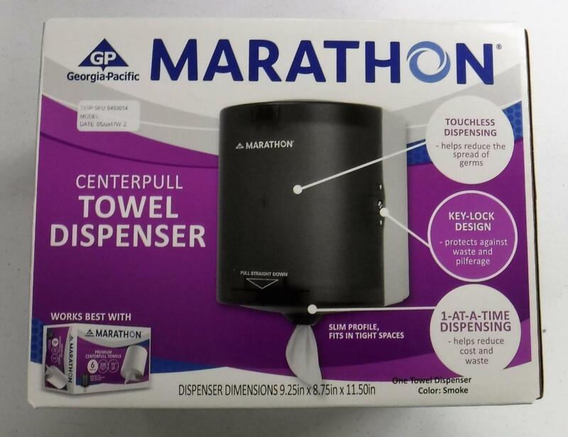 Marathon Center Pull Towel Dispenser Clear (64B) FREE SAME DAY SHIPPING