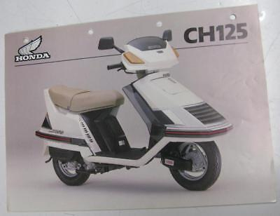 HONDA CH125M-D Motorcycle Original Sales Brochure Specification Sheet JUN 1983