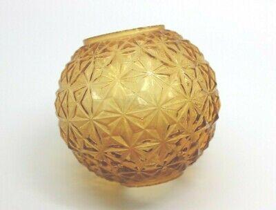 Vintage Replacement Globe for a Miniature Oil Lamp Amber Orange Starburst Design