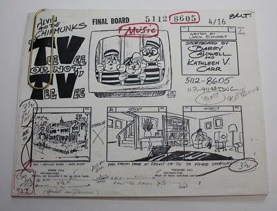 ALVIN & THE CHIPMUNKS / 1986 TV Series Storyboards Script