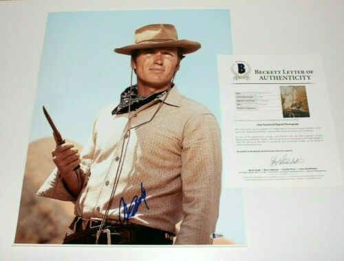 CLINT EASTWOOD SIGNED A FISTFUL OF DOLLARS 16x20 PHOTO BECKETT COA MOVIE BAS