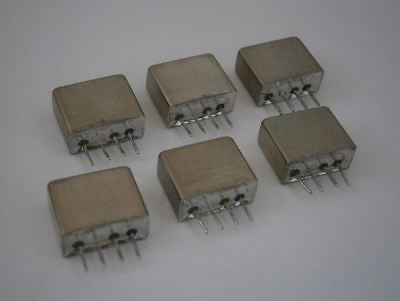 Lot Of 6 Mini Circuits Mcl Tfm-15 Plug-in Frequency Mixer Level 7 10 - 3000 Mhz