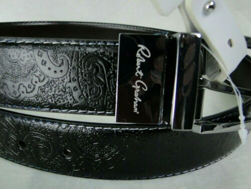 Robert Graham Designer Garrison Reversible Leather Belt MSRP $98 NWT FANCY! - 36