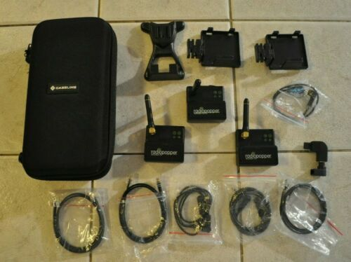 Radiopopper (1) Receiver (2) Transmitter PX Wires Adapters w/ Canon Mounts Case