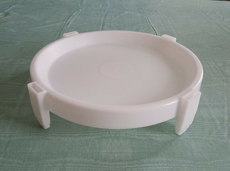 """Vintage Large Tupperware Divide-A-Rack 10"""" Pie Stacker Tray White #511"""
