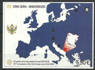 MONTENEGRO/ 50 Jahre CEPT-Marken MiNr Block 3 **