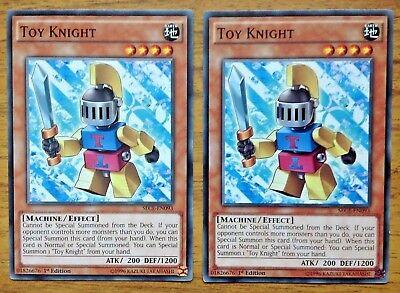 Yu-Gi-Oh 2 x Toy Knight SECE-EN093. Free Postage