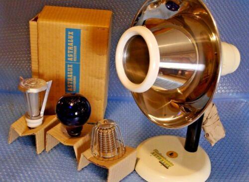 brand new vintage Astralux Heat, UV, IR Lamp set Space Design, Austria 1950s