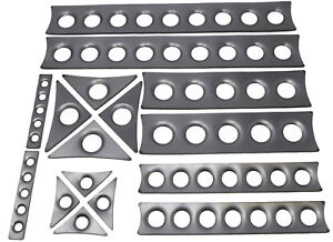 ULTIMATE ROLL CAGE GUSSET KIT DIMPLED PLATES 14G CUSTOM SIZES AVAILABLE