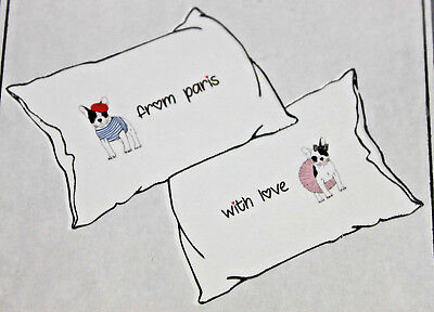 Sleeposophy French Bulldog Dog Paris With Love Pillowcases New Wedding Gift