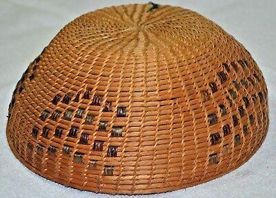 "Antique Native American Basket - Washoe Tribe North California  Basket 9""X3.5""-"