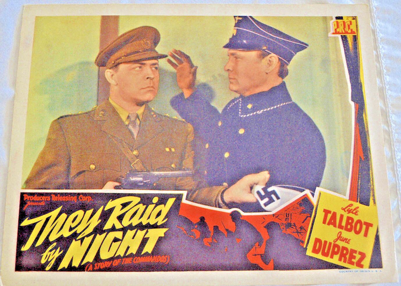 Lyle Talbot, They Raid By Night 1942 Lobby Card - Very Good To Near Mint, PRC - $25.00