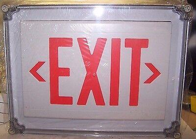 New Dual-lite Liteforms Ln4xrw Led Exit Sign 120277 Vac Nema 4x Raintight