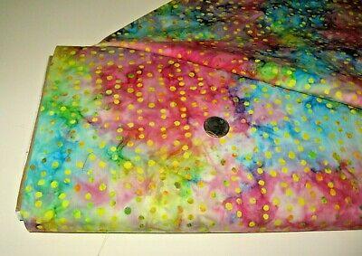 Tonga Batik quilt-craft fabric IMPERFECT DOTS equator 2 yds (b-7666) Hand Dyed!