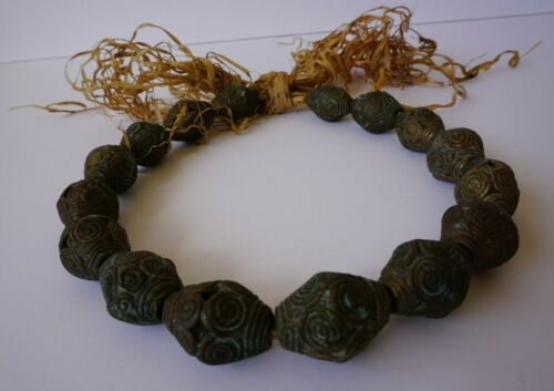 Antique African Bronze Trade Beads