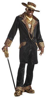 Supa Mac Daddy Big Pimpin Pimp Hustler Hustla Mens Halloween Costume - Supa Mac Daddy Kostüm