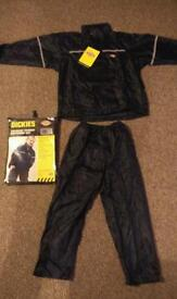 Children's waterproof trousers and jacket set brand new dickies 7-8, 9-10, 11-12yrs