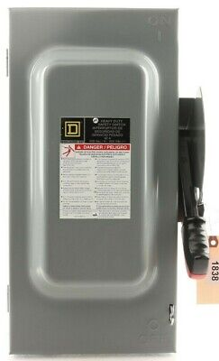 Hu362 Square D Safety Switch 60 Amp 3 Pole Not Fusible Hd 600v 60a 3p Nema1 In