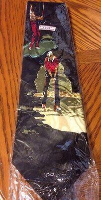 Gold City Black Golf Tie 100% Silk Funny Whimsical NWOT Bogey Birdie Par](Par City)