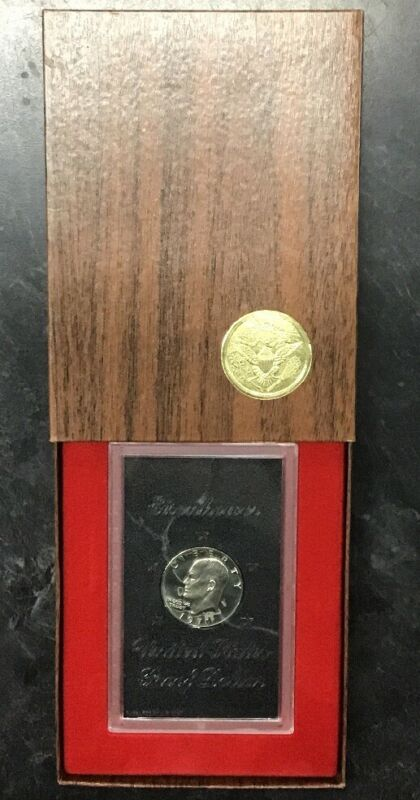 1971-S EISENHOWER US MINT PROOF DOLLAR 40% BROWN BOX