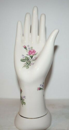 8-INCH FLORAL RING HAND PORCELAIN CERAMIC EXCELLENT CONDITION