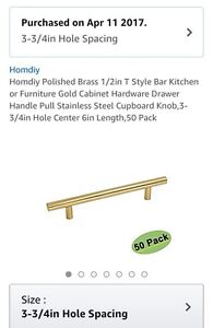 Gold handles - hardware