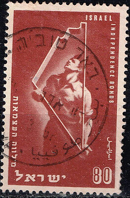 Israel Country Map  stamp 1950