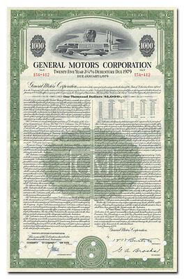 General Motors Corporation Bond Certificate