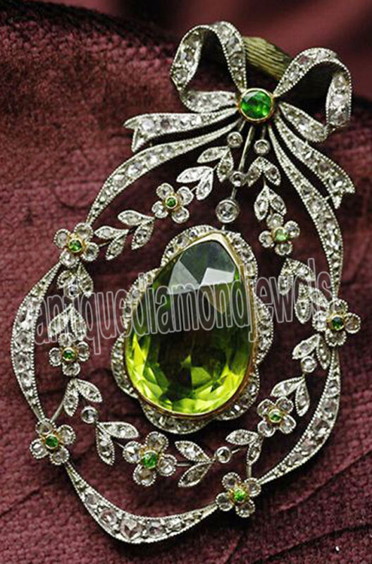 4.20cts ROSE CUT DIAMOND PERIOD ANTIQUE VICTORIAN LOOK 925 SILVER BROOCH PIN