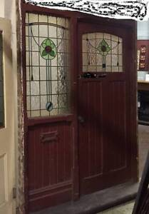 Wanted Leadlight Door Entrance from a bungalow, 1920's demolition Beverley Charles Sturt Area Preview