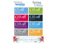 Special Offer Vouchers from Body and Beauty Studio Woking