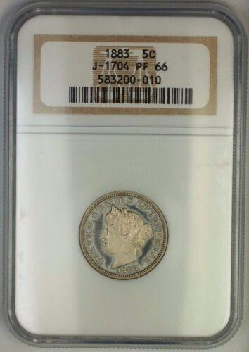 1883 Liberty Nickel Pattern Proof 5c Coin Ngc Pf-66 J-1704 Judd Ww