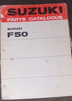 SUZUKI F50  GENUINE PARTS CATALOGUE  (1st EDITION  1969)