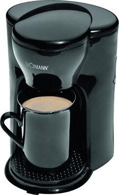 BOMANN 1-Tassen-Kaffeeautomat+Keramiktasse Kaffeemaschine KA 201 CB Kaffeekocher - 1 Tasse Kaffeemaschine