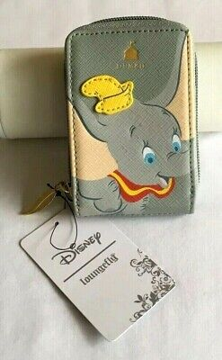 LOUNGEFLY DISNEY DUMBO FLYING ELEPHANT CARDHOLDER FAN WALLET - NEW WITH TAGS!
