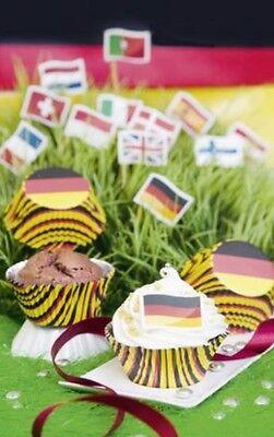 Sieht einfach gut aus: Muffins in Deutschland-Farben. (Foto: meisterbackderbackprofi2015)