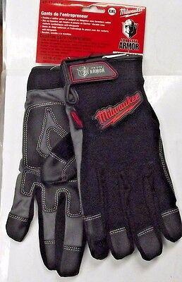 Milwaukee Gloves Contractor Job Site Armor 49-17-0134 XXL