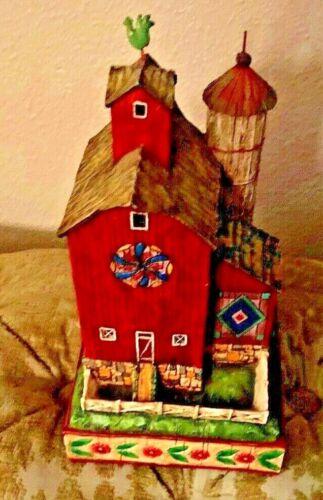 2004 Jim Shore Heartwood Creek Red Barn Figurine Strength and Plenty - 0000308