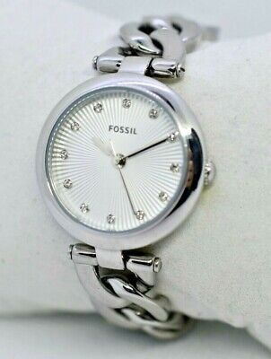 Women's FOSSIL Bracelet Watch, Crystal Accents, Stainless Steel, Analog - ES3390